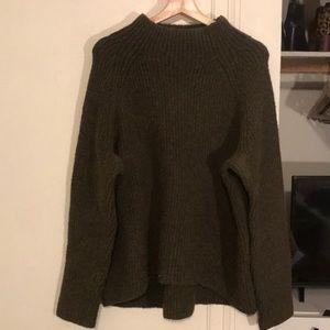Madewell Northfield Mockneck Sweater, XL